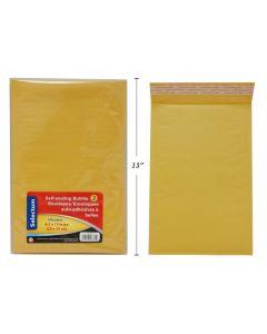 """Selectum Kraft Peel-N-Seal Bubble Envelopes - 8.5"""" x 13"""" ~ 2 per pack"""