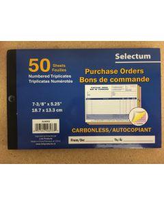 Selectum Tri Carbonless Purchae Order Book ~ 50 sheets