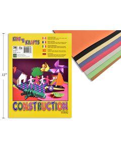 "Construction Paper Pad - 9"" x 12""  ~ 36 sheets"