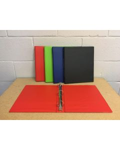 "Selectum Hard Cover Vinyl 3-Ring Binder + Pockets ~ 1"""