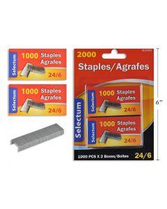 Selectum Staples 24/6 Size ~ 2 x 1000 staples / box (Fits Item SL51127)