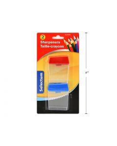 Selectum 2-Hole Pencil Sharpeners ~ 2 per pack
