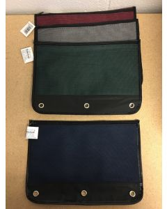 """Selectum Pencil Case with Zipper & 3 Holes for Binder ~ 7.25"""" x 10.5"""""""