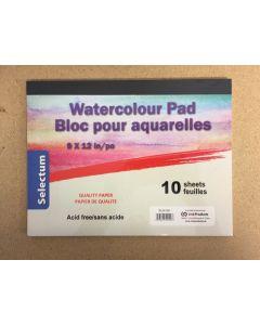 "Selectum Water Color Pad - 9"" x 12"" ~ 10 sheets"