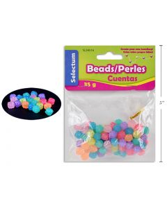 Selectum Jelly Color Round Plastic Beads (45gr) + 1M Clear String