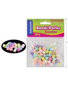Selectum Plastic Flower Beads (45gr) + 1M Clear String