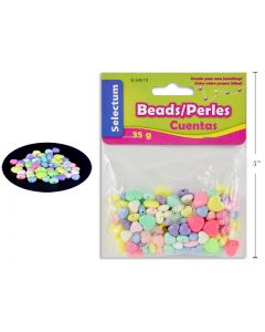 Selectum Plastic Heart Shaped Beads (45gr) + 1M Clear String