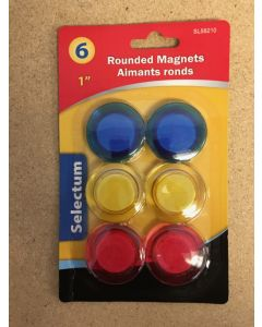 """Selectum Round Magnets {1""""} ~ 6 per pack"""