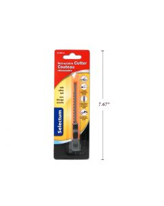 Selectum Retractable Slim Utility Cutter w/Safety Lock