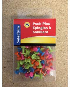 Selectum Neon Color Push Pins ~ 75 per pack