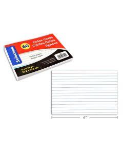 "Selectum Index Cards 4"" x 6"" - Ruled - White ~ 60 per pack"