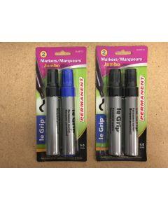 Selectum Jumbo Permanent Markers~ 2 per pack