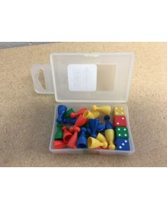 Pawn & Dice Set ~ 24 pieces in box