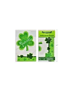 """St. Patrick's Plastic Printed Tablecover ~ 54"""" x 108"""""""