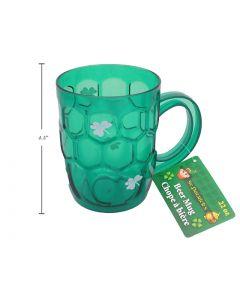 St. Patrick's Day Printed Shamrock Beer Mug - 22oz