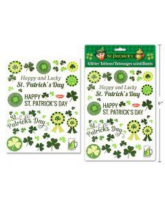 St. Patrick's Day Glitter Tattoos