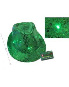 St. Patrick's Day Sequin Flashing Fedora Hat