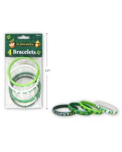 St. Patrick's Day Printed Bracelets ~ 4 per pack