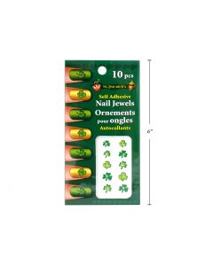 St. Patrick's Day Self Adhesive Finger Nail Jewel Art