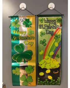 """St. Patrick's Day Foil Printed Non-Woven Hanging Banner ~ 30""""L"""