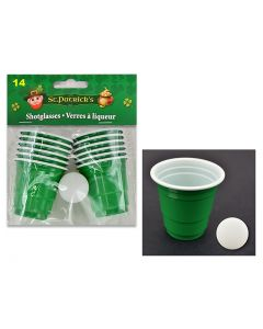 St. Patrick's Day Green Shot Glass Beer Pong