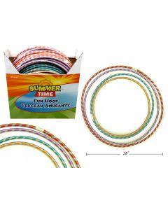 Laser Ribbon Fun Hoop ~ 4 assorted sizes