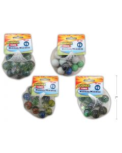 Marbles in Mesh Bag (Shooter Marbles ) 25mm ~ 12/bag