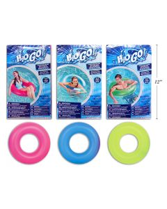 """36"""" Inflatable Frosted Neon Swim Ring"""