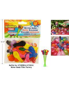 Water Bomb Filler Factory Refill Balloons ~ 37 pieces