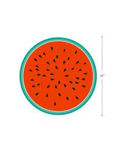 "Watermelon Print Round Beach Towel - 60"" Diameter ~ in PVC Bag"