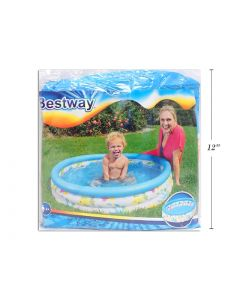 """Inflatable Round Coral Kids Pool ~ 40"""" Diameter x 10"""" high"""