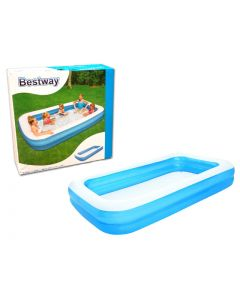 """Inflatable Deluxe Rectangular Family Pool ~ 120"""" x 72"""" x 22"""" high"""
