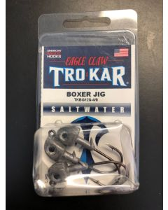 Eagle Claw 1/2oz Saltwater Box Jig with Eyes + 4/0 Hook - 3/pk ~ Silver