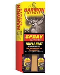 Harmon Triple Heat Female Deer in Heat - 2 ounce bottle ~ 12 per counter display