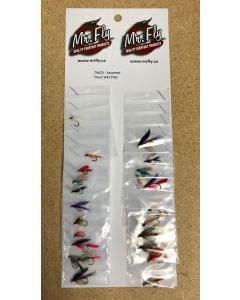 Assorted Trout Wet Flies ~ 24 per card