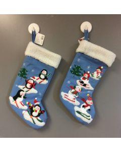 "21"" Christmas Stocking w/Snowmen or Penguins"