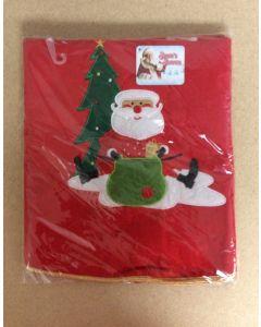 "Tree Skirt w/Embroidered Santa Design ~ 36""D"