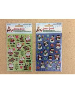 Christmas Holographic Puffy Stickers ~ 2 asst