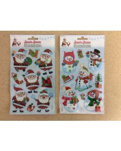 Christmas Glitter Googley Eye Stickers ~ 2 asst