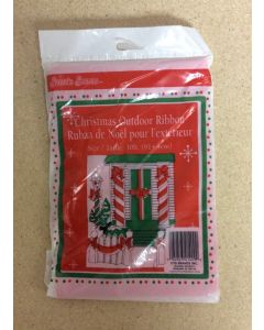 Christmas Outdoor Red Ribbon - 30'
