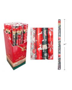 """Christmas Single Roll Wrapping Paper ~ 30"""" x 72"""""""