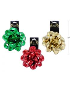 """Christmas Holographic Gift Bows - 6"""" ~ 1 per pack"""