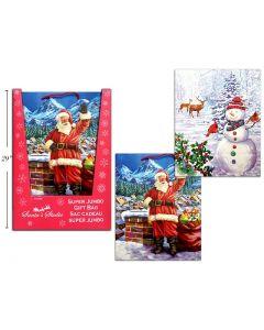 Christmas Super Jumbo Gift Bag ~ Santa / Snowman