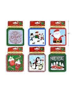 Christmas Printed Tin Gift Card Holder with Tray