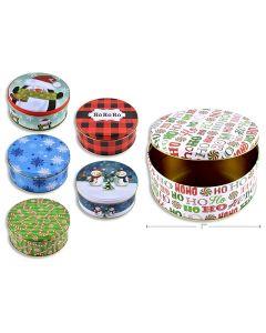 "Christmas Cookie Tins - Midsize ~ 6.5/8""D"