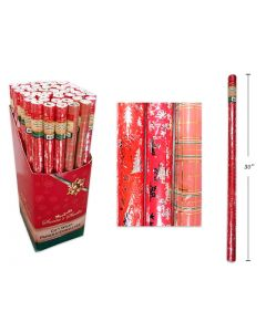 """Christmas Single Roll Foil Wrapping Paper ~ 30"""" x 60"""""""