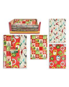 Christmas Flat Gift Wrap - 22 Sq-Ft ~ 6 sheets per pack