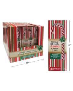 Christmas Jumbo Peppermint Candy Cane ~ 1 per pack