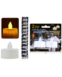 Flickering White LED Tealights ~ 2 per pack