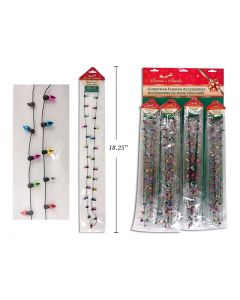 "Christmas Lightbulb Necklace ~ 30"""